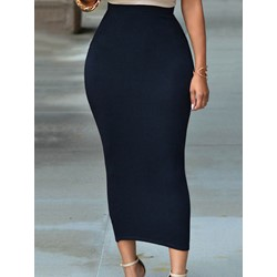 Bodycon Plain Patchwork Women's Skirt