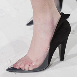 ShoespiePointed Toe See-Through Stiletto Heels