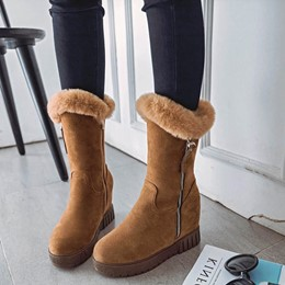 Winter Hidden Elevator Heel Women's Boots