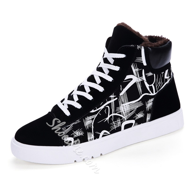 Casual Color Block Lace-Up Sneakers
