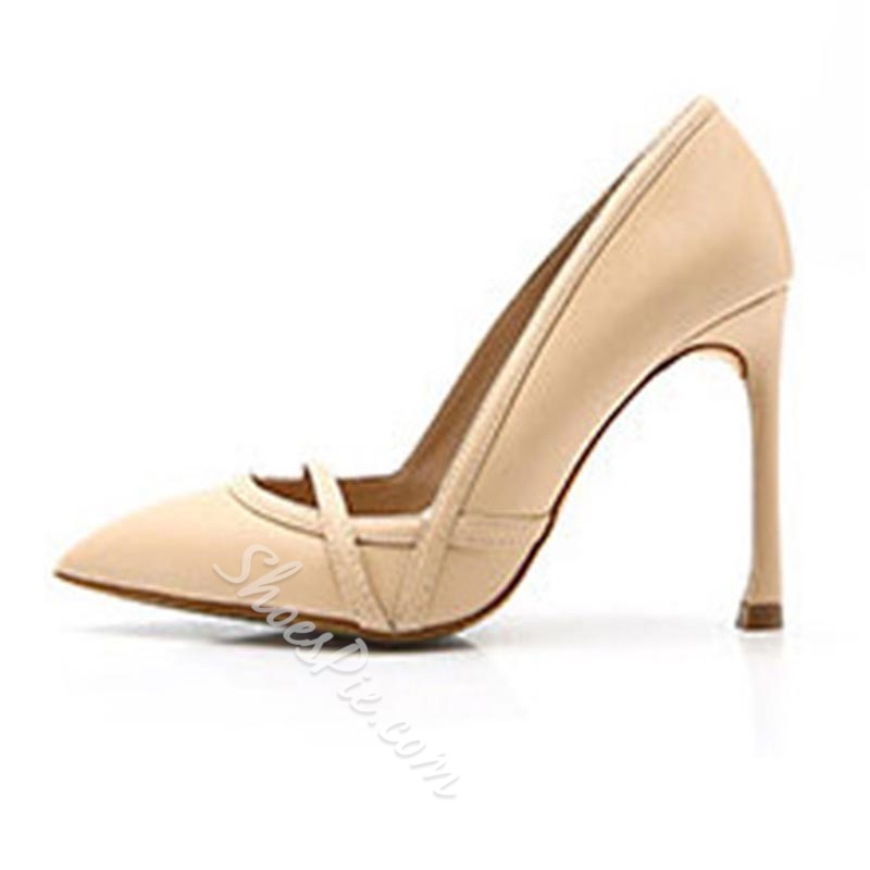 Solid Color Slip-On High Stiletto Heels