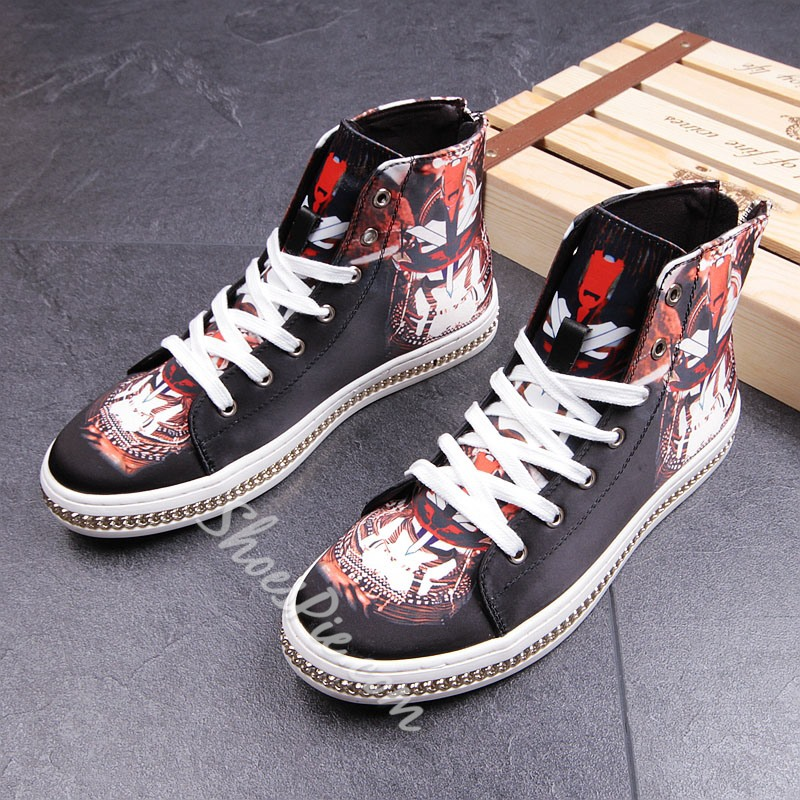 Shoespie Print Lace-Up Fashion Men's Sneakers
