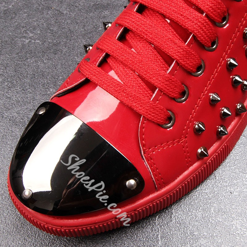 Shoespie Rivet Sequin Lace-Up Men's Sneakers