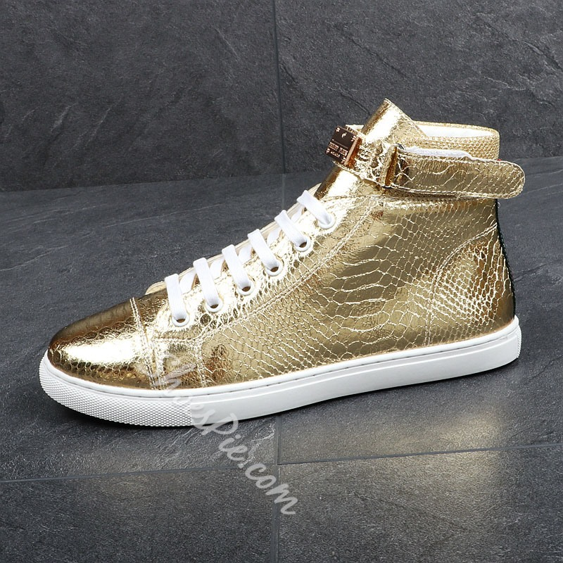 Shoespie Casual Lace-Up Boots Sequin Men's Sneakers