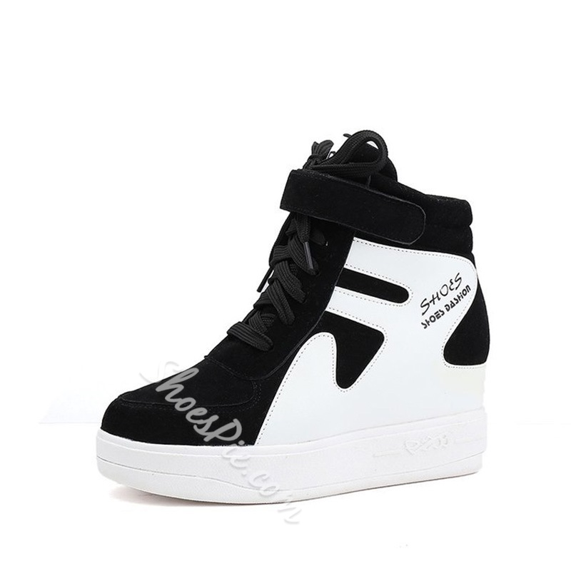Shoespie Platform Hidden Elevator Heel Women's Sneakers