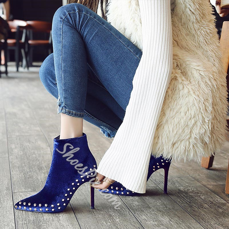 Shoespie Sexy Rivet Stiletto Heel Ankle Boots