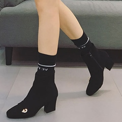 Shoespie Square Toe Chunky Heel Women's Boots