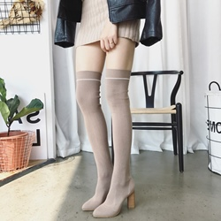 ShoespiePointed Toe Chunky Heel Knee High Boots