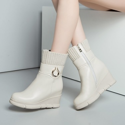 Shoespie Casual Wedge Heel Ankle Boots