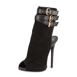 Shoespie Peep Toe Stiletto Heel Women's Boots