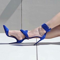 Shoespie Sexy Line-Style Buckle High Stiletto Heels
