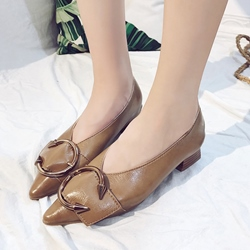 Solid Color Chunky Heel Women's Shoes