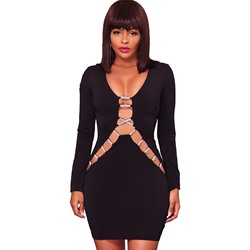 Shoespie Sexy Hollow Long Sleeve Bodycon Dresses
