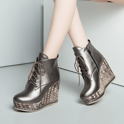 Shoespie Platform Wedge Heel Ankle Boots