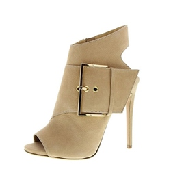 Peep Toe Stiletto Heel Hollow Buckle Fashion Boots
