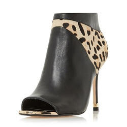 Shoespie Stiletto Heel Leopard Open Toe Women's Boots