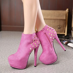 Stiletto Heel Rivet Platform Fashion Boots