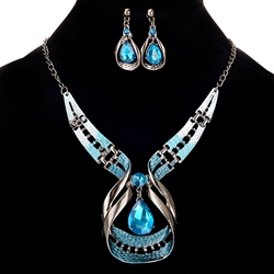 Charming Gemstone Decorated 2 Pcs Jewelry Sets