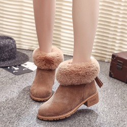 Fashion Block Heel Platform Boots