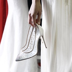 Shoespie Rivet Slip-On High Stiletto Heel Wedding Shoes
