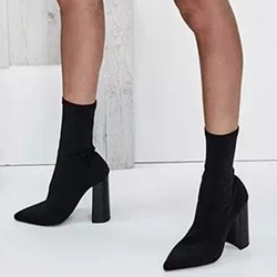 Pointed Toe Chunky Heel Fashion Women's Boots