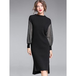 Shoespie Lantern Long Sleeve Bodycon Dresses