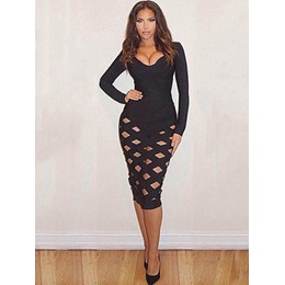 Shoespie Hollow Two-Piece Suit Sexy Bodycon Dresses