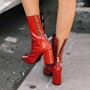 Shoespie Hollow Chunky Heel Ankle Boots