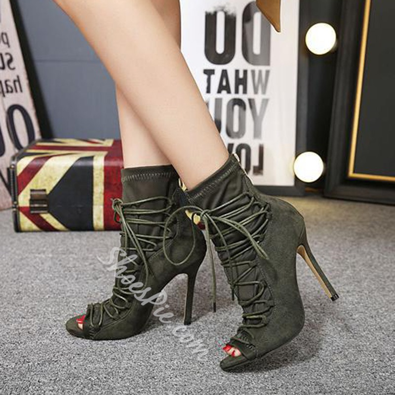 Shoespie Cross Strap Hollow Women's Boots