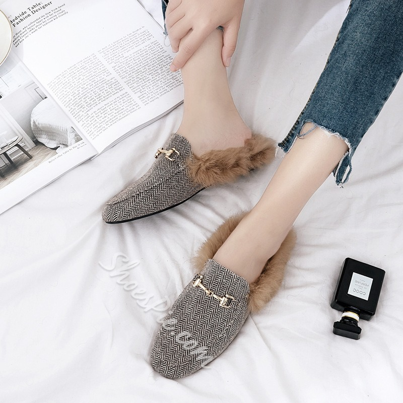 Shoespie Purfle Flat Women's Loafers