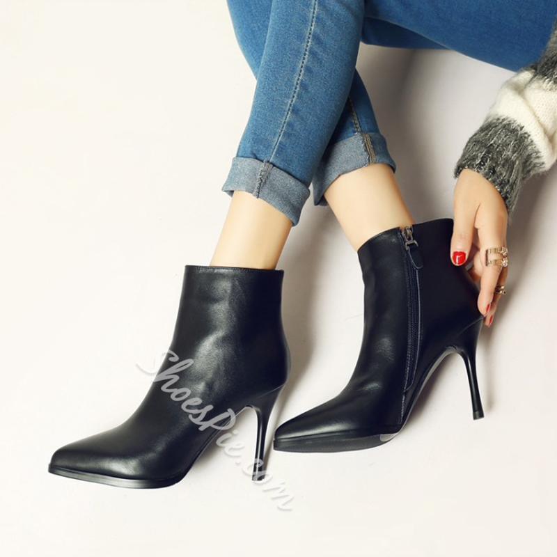 Shoespie Stiletto Heel Fashion Ankle Boots