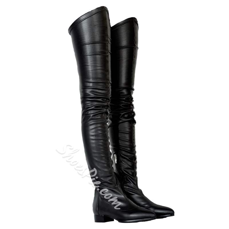 Shoespie Fashion Block Heel Thigh High Boots
