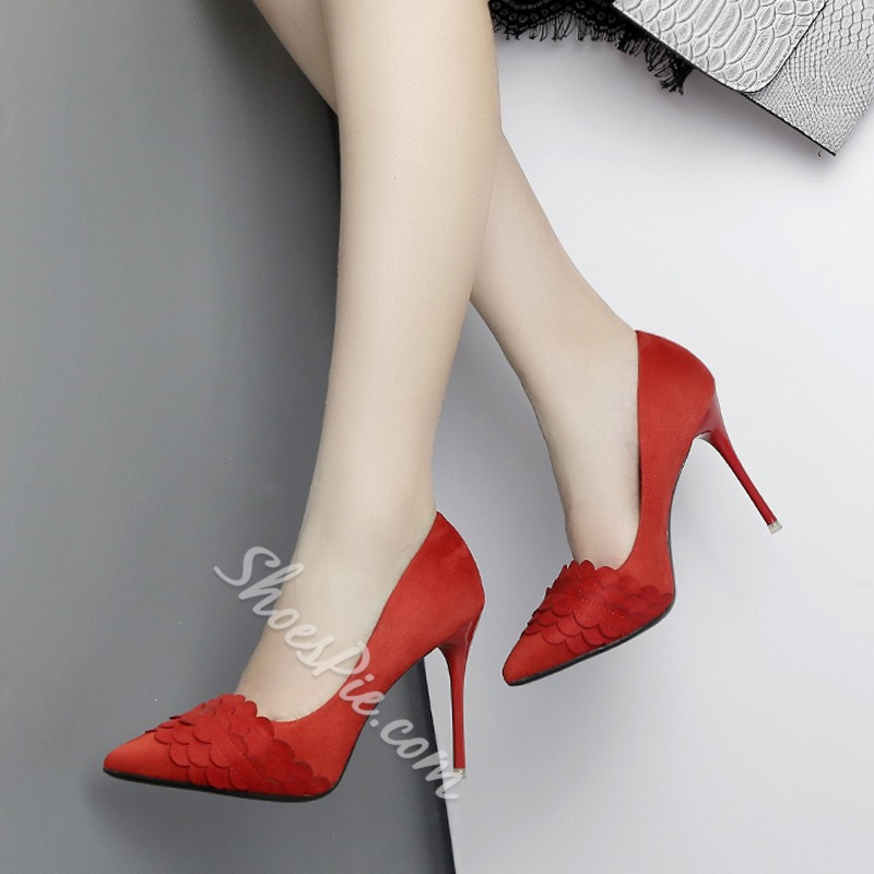 Slip-On Solid Color Stiletto Heels