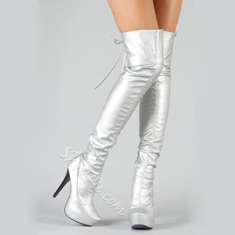 ShoespieStiletto Heel Platform Knee High Boots