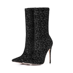 Shoespie Pointed Toe Stiletto Heel Boots