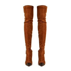 Shoespie Stiletto Heel Color Block Thigh High Boots