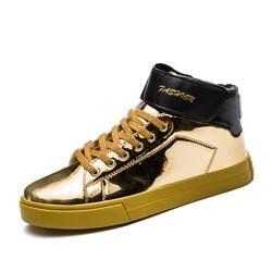 Shoespie Patent Leather Patchwork Casual Men's Shoes