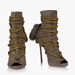 Shoespie Peep Toe Cross Strap High Heel Boots