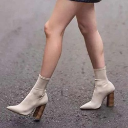 Shoespeie Chunky Heel Sock Women's Boots