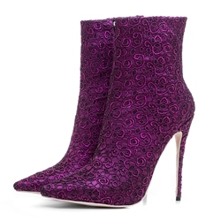 Shoespie Embroidery Stiletto Heel Women's Boots