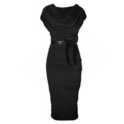 Short Sleeve Heap Collar Bodycon Dresses