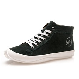 Shoespie Suede Casual Print High-Cut Upper Men's Shoes