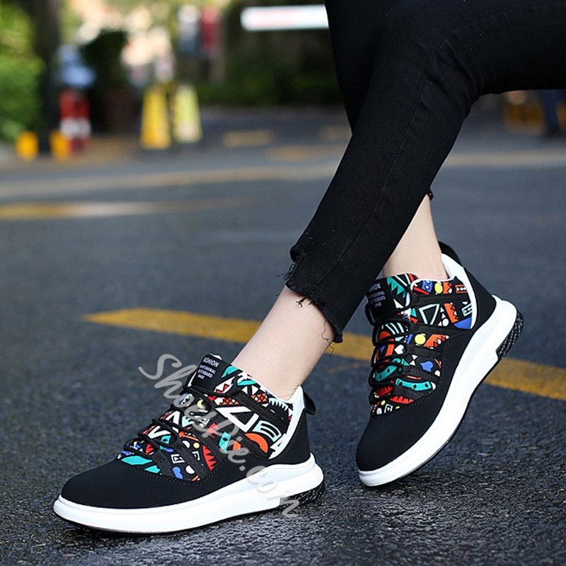 Shoespie Geometric Patchwork Casual Men's Shoes