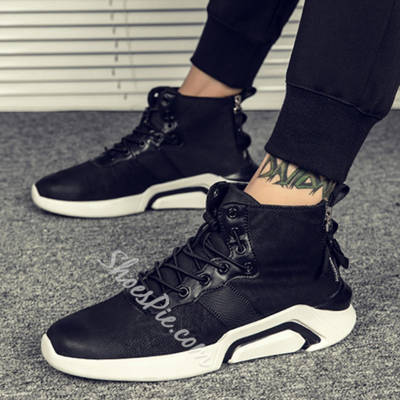 Shoespie Lace-Up Patchwork Casual Men Shoes
