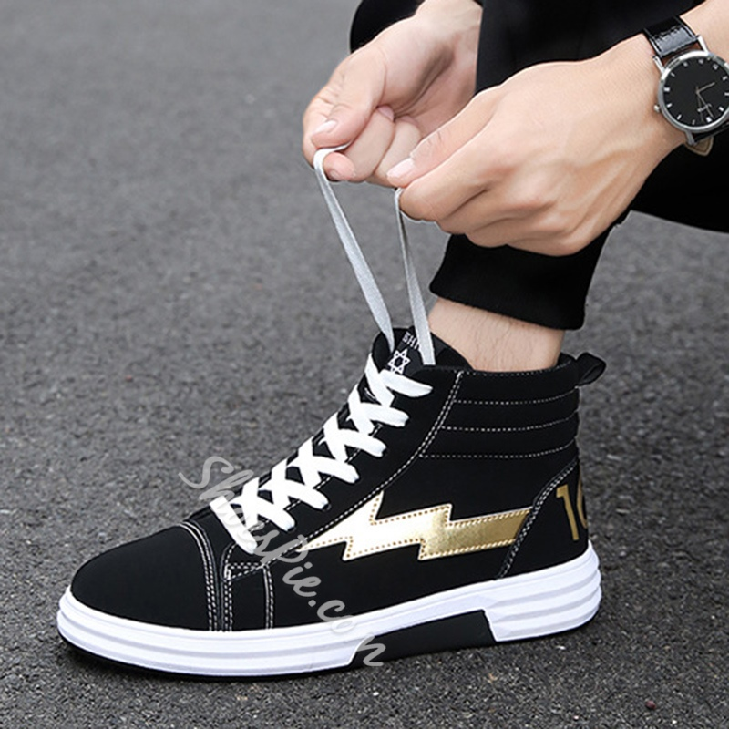 Shoespie Suede Patchwork Men's Sneakers