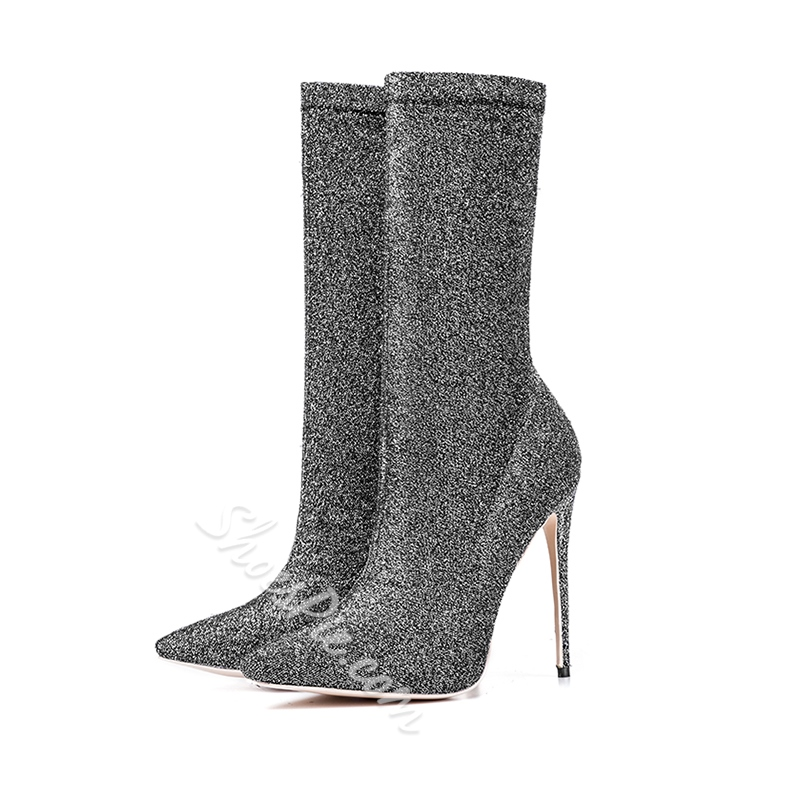 Shoespie Stiletto Heel Pointed Toe Ankle Boots