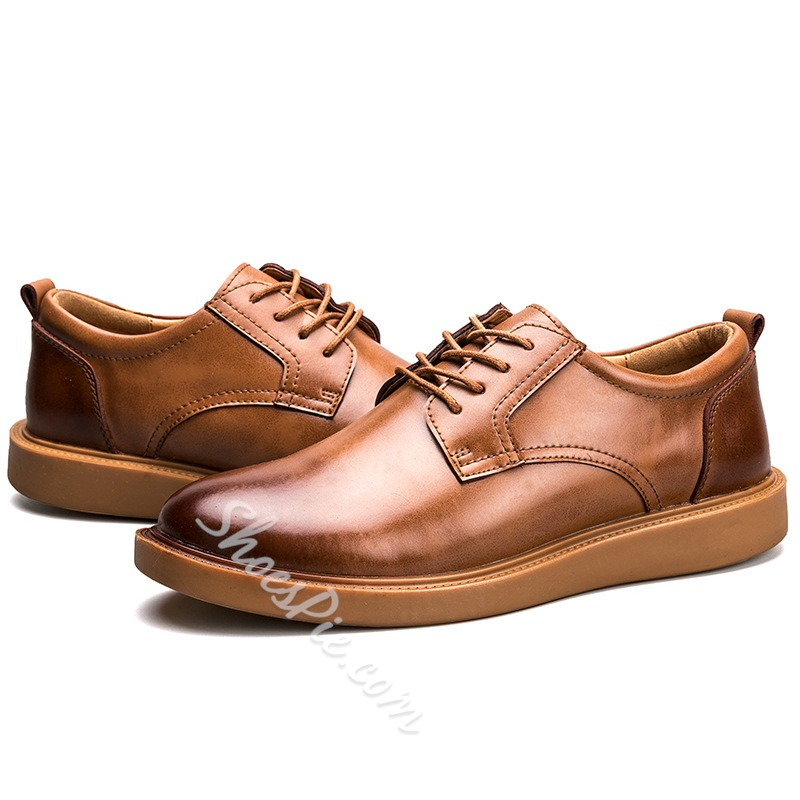 Shoespie Lace-Up Brush Off Oxfords For Men