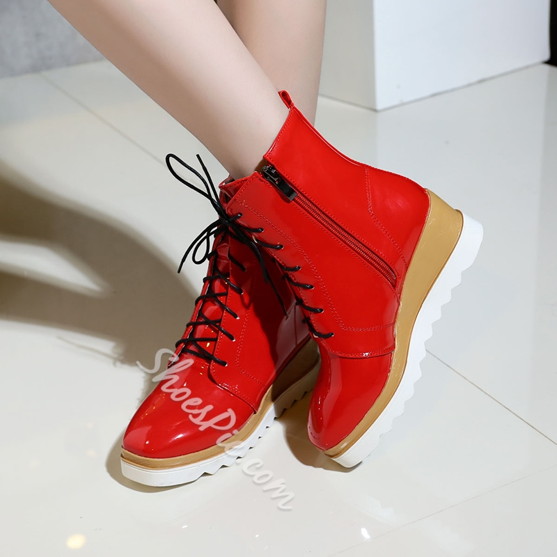 Shoespie Cross Strap Wedge Heel Women's Sneakers