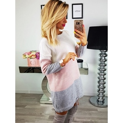 Round Neck Lace-Up Long Sleeve Winter Women's Casual Dress