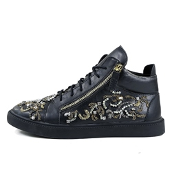 Shoespie Rhinestone Lace-Up Men's Sneakers